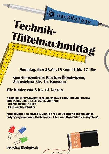 Technik-Tüftel-Nachmittag 2018